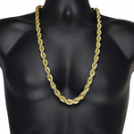 "12 MM Rope Gold Chain 30"" Inch"