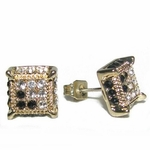 Square Iced-Out Earrings 8MM