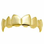 14k Gold Plated Pointy Fangs Grillz