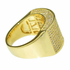 Gold Rectangle CZ Ring 27x15MM