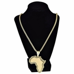 "Africa Gold Finish 36"" Franco Chain"