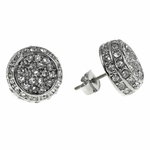 Iced-Out 14 mm Round Earrings
