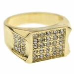 Gold Rectangle Ring 18X13MM