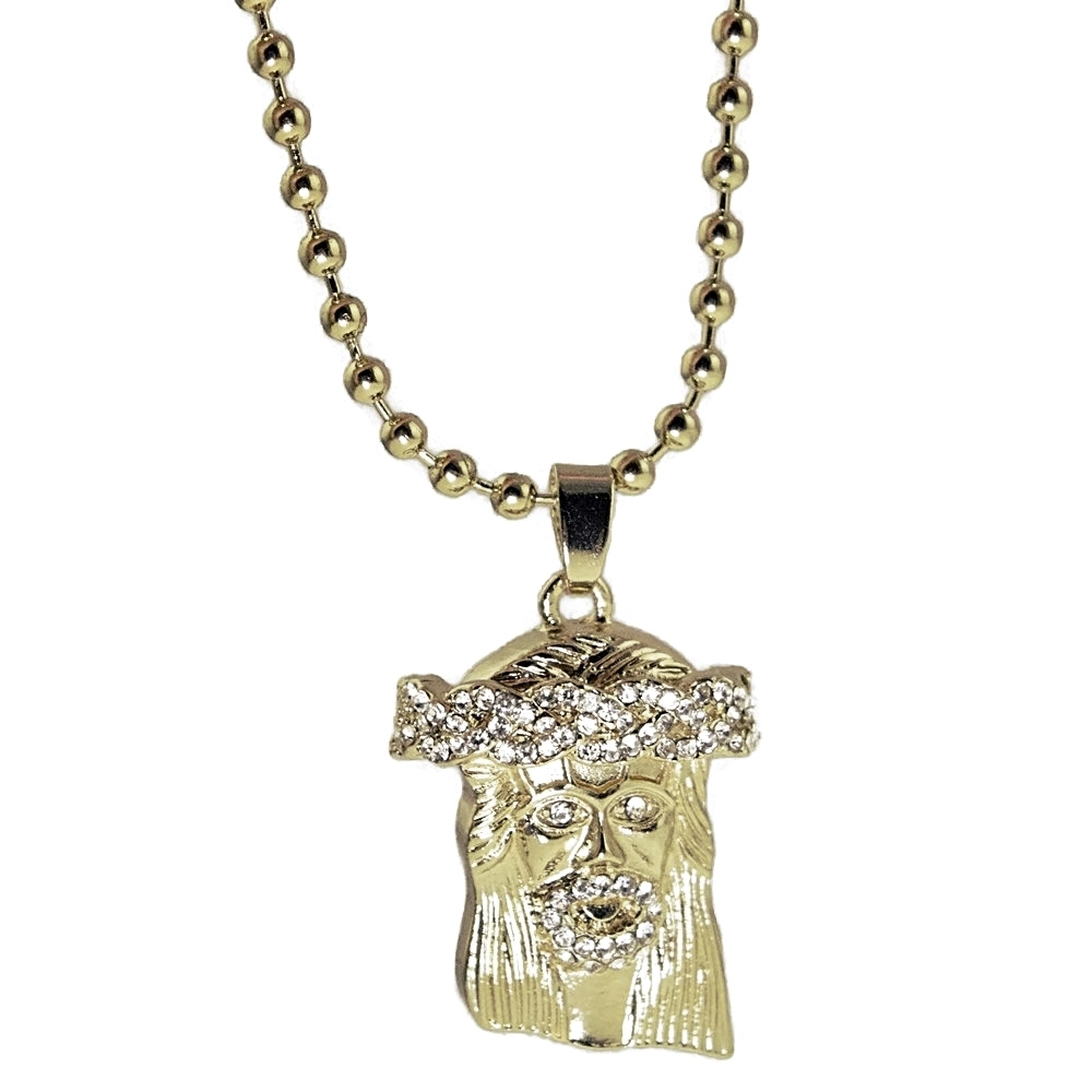 Iced Out Micro Jesus Ball Chain Hip Hop Chains