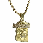 Iced-Out Micro Jesus Ball Chain