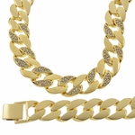 "26"" Gold Chain Quarter Stone"