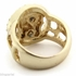 Jesus Face Gold Tone Men's Ring