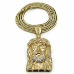 """Jesus Gold Plated 36"""" Franco Chain"""