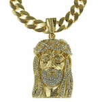 "33"" Cuban Chain Jesus Piece"