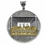 Last Supper Iced-Out Round Charm