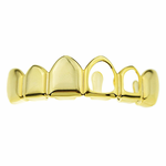 Left 2 Open Gold Top Grillz