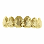Marijuana 14k Gold Plated Grillz