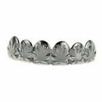Silver Weed Leaf Top Grillz