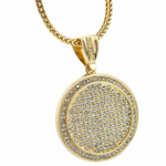 "Medallion Gold 36"" Franco Chain"