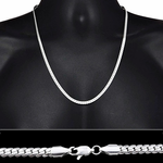 "Miami Cuban Silver Chain 24"" 5MM"