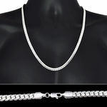 "Miami Cuban Silver Chain 24"" 6MM"