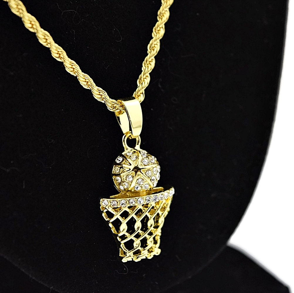 micro basketball rope chain 24 quot chains