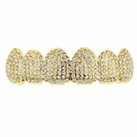Micro Pave Gold Plated Top Grillz