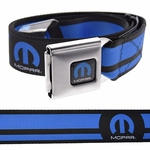 Mopar Logo Blue Stripes Belt