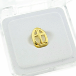 Gold Open Cross Tooth