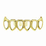Gold 6 Open Lower Fangs