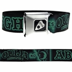 Ouija Board Green Seatbelt Belt