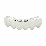 Plain Silver Tone Bottom Teeth Grillz