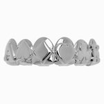 3D Playing Cards Silver Tone Grillz