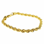 "Rope Chain Bracelet 9"" x 6MM"