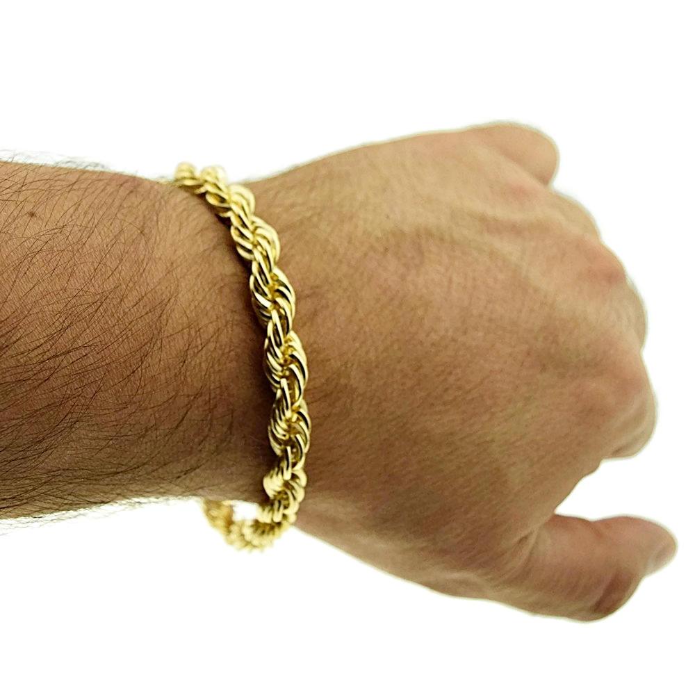 e73d16d92c893 Gold rope chain bracelet : Pizza howell michigan