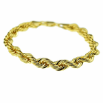 "Rope Chain Bracelet 9"" x 8MM"
