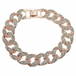 Iced-Out Bracelet Rose Gold Finish