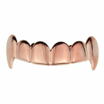 Rose Gold Plain Top Fangs
