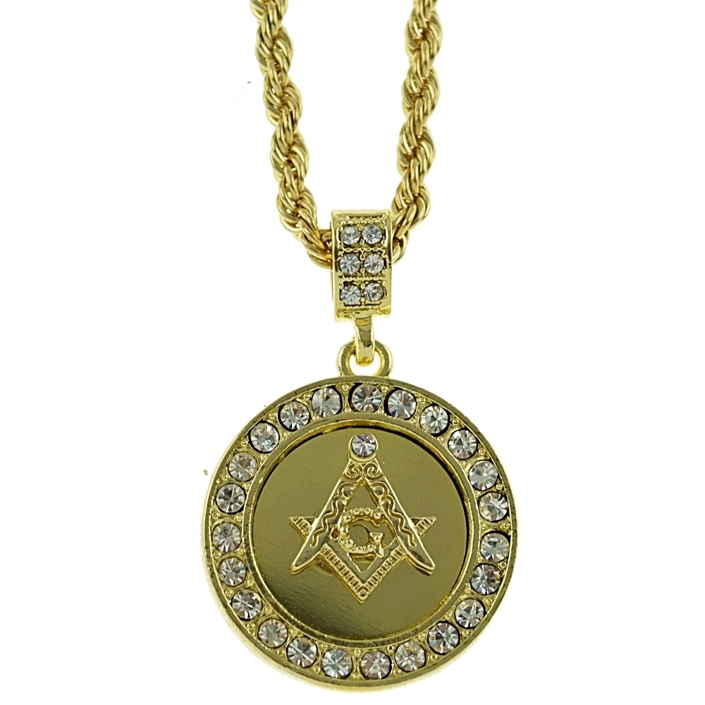 masonic pendant 24 quot rope chain hip hop chains