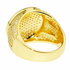 Gold Round CZ Brass Ring 19MM