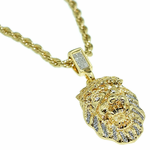 "Gold Lion 24"" Rope Chain"