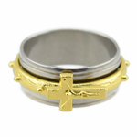 Jesus Cross Spinner Ring