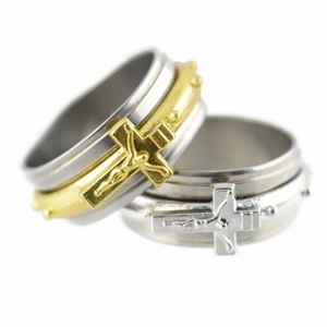 Jesus Spinner Ring