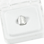 Single Cap Silver Tone Grillz