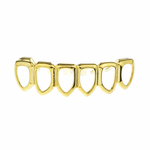 Gold 6 Open Lower Grillz