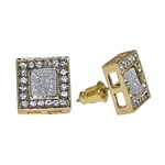Square Gold Earrings 12MM