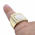 Square Sand Blast Gold Ring
