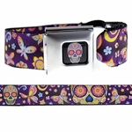 Sugar Skulls Day Of The Dead Belt