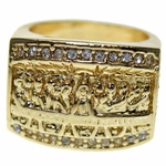Last Supper Gold Finish Ring