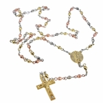 Tri-Tone Virgin Mary Rosary