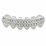 Silver 2-Row Lower Grillz