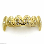Gold Grillz Cross Fangs