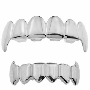 Vampire Silver Full Fangs Set