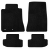 Lloyd Black Floor Mat Set with No Emblem for 2015 Mustang
