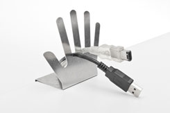 Cable Butler for Desktop Surface